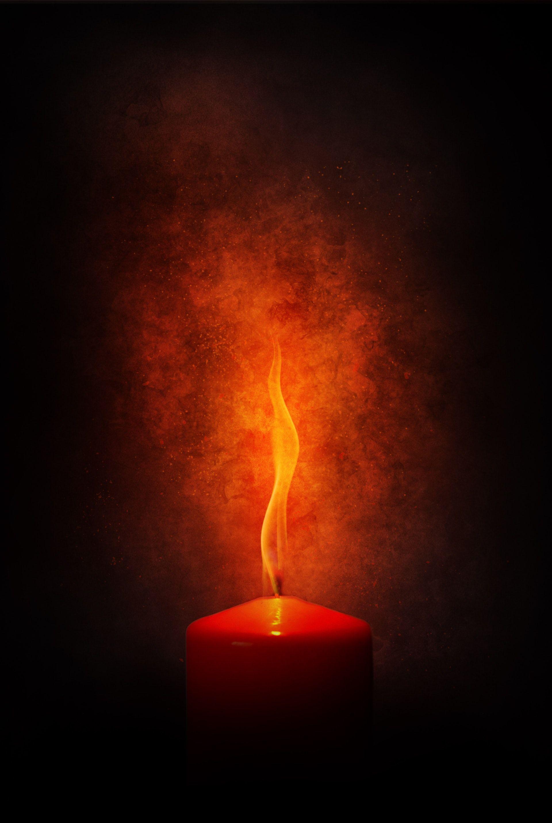 عکس زمینه شمع قرمز پس زمینه