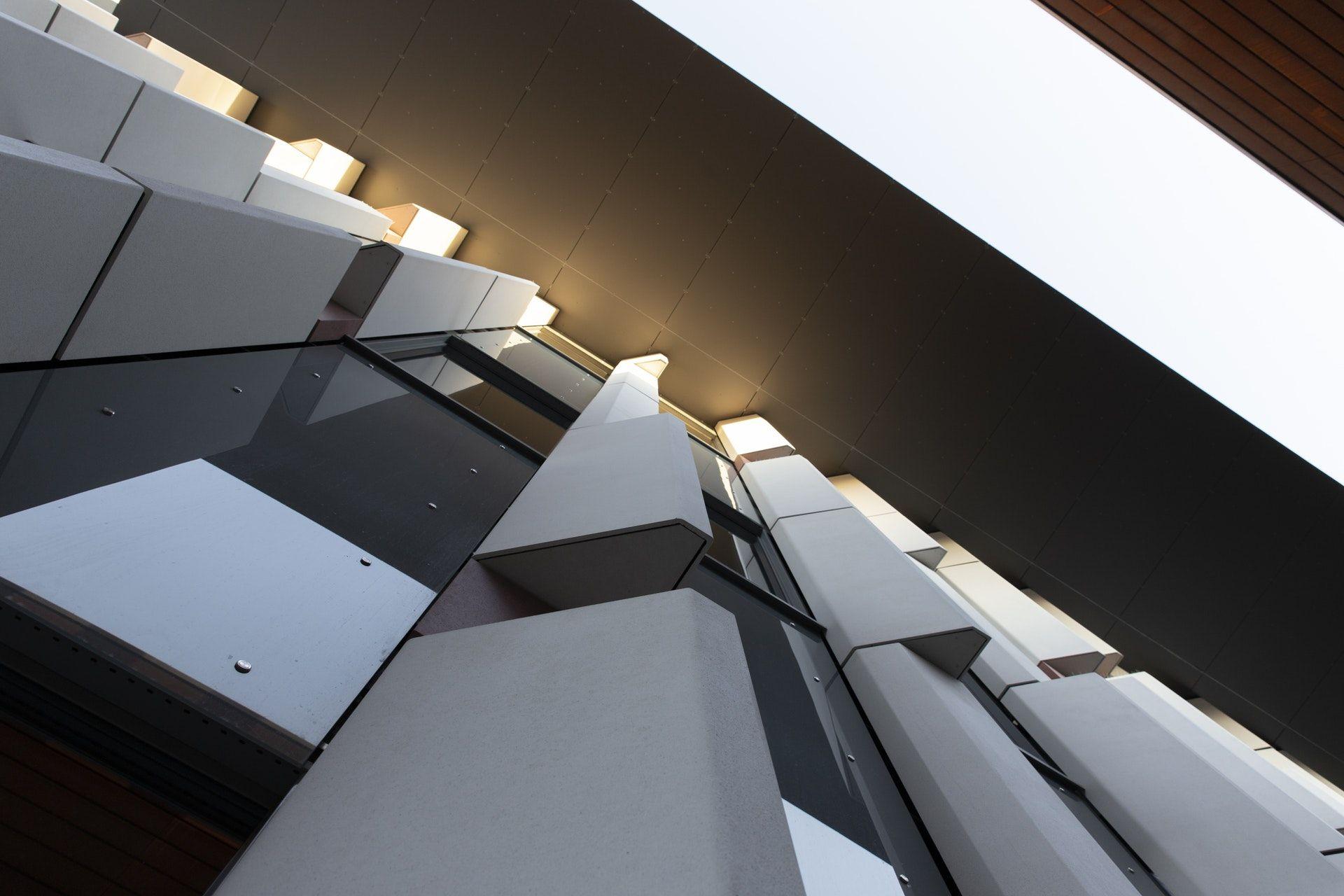 عکس زمینه نمای صنعتی از ساختمان پس زمینه