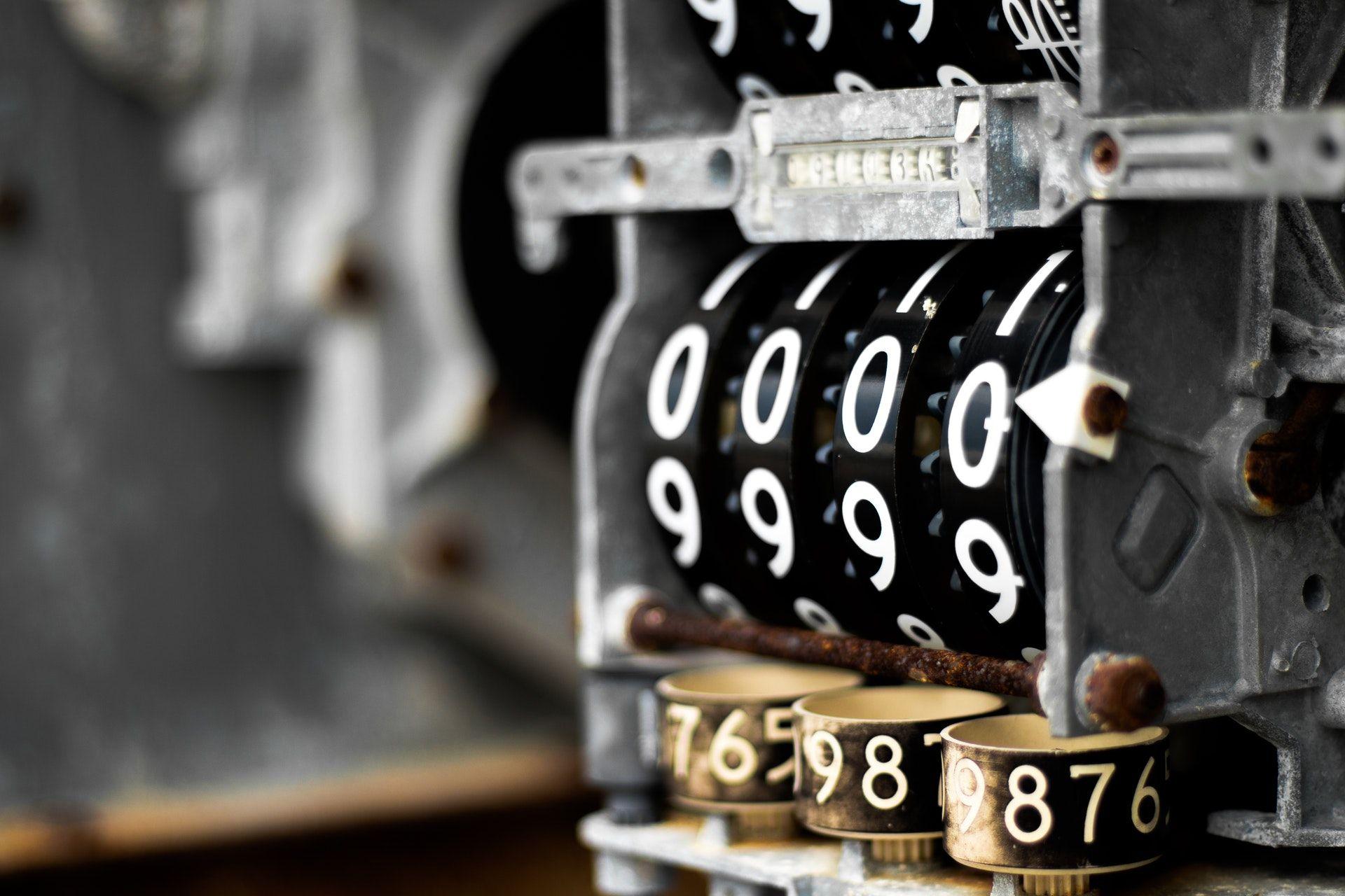 عکس زمینه دستگاه شماره زن کلاسیک پس زمینه
