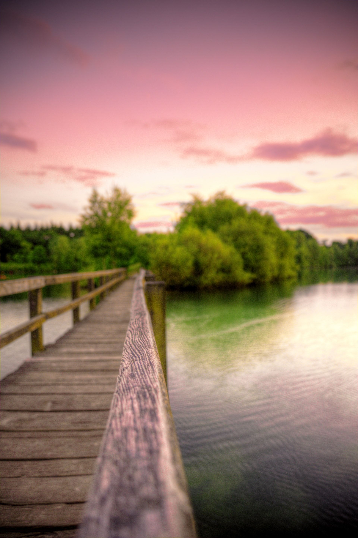 عکس زمینه پل چوبی در روخانه پس زمینه