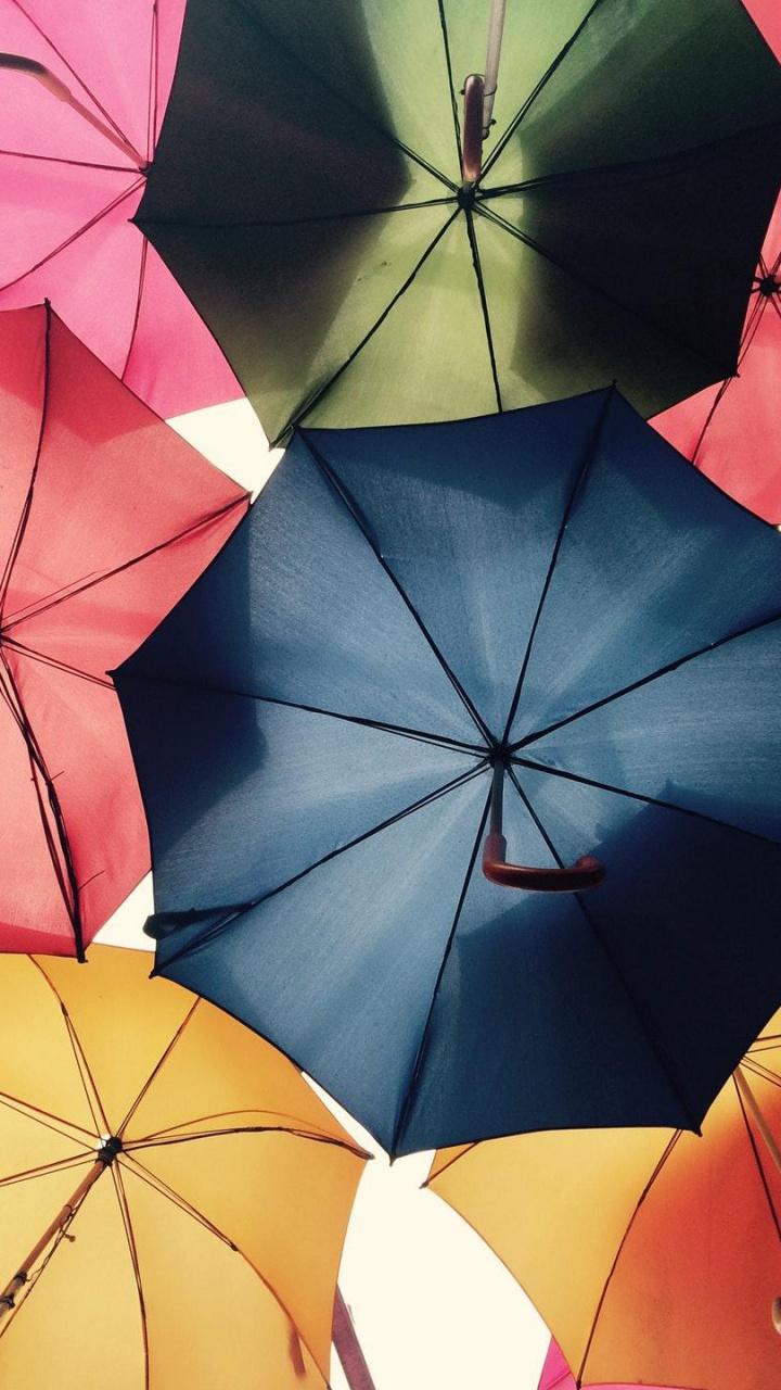 عکس زمینه چتر های رنگارنگ پس زمینه