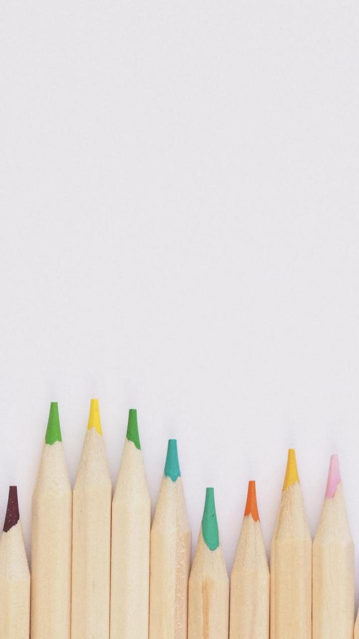 عکس زمینه مداد رنگی ساده و زیبا پس زمینه