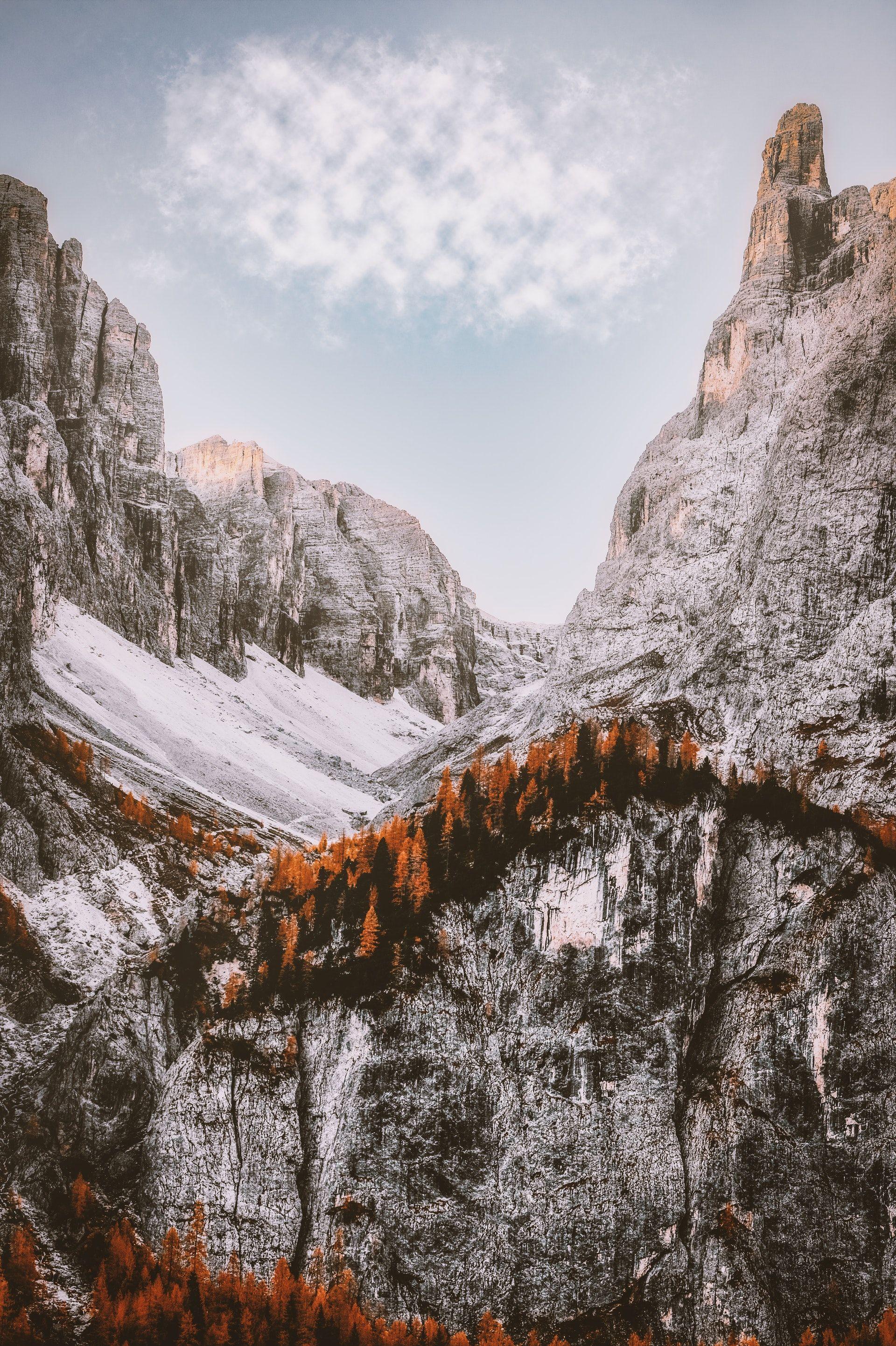 عکس زمینه رشته کوه های زمستانی پس زمینه