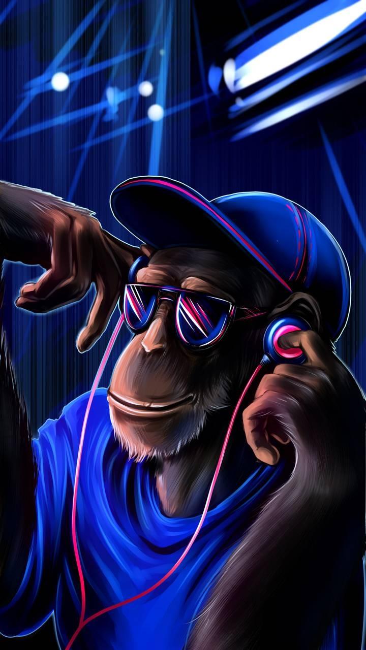 عکس زمینه میمون خوشحال پس زمینه