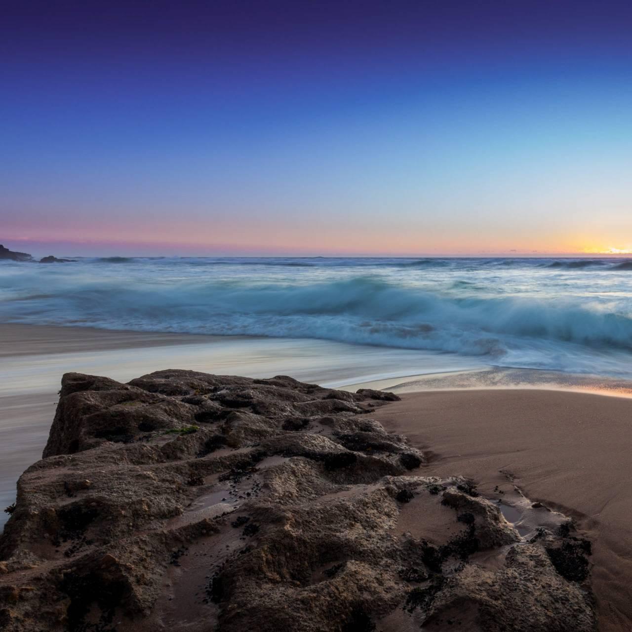عکس زمینه LG G5 ساحل و سخره پس زمینه