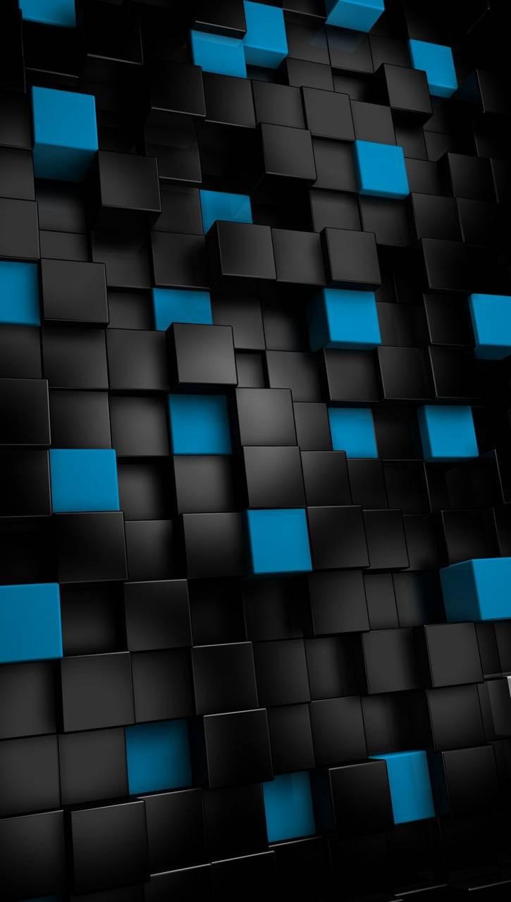 عکس زمینه مکعب های آبی مشکی آیفون 6 پس زمینه
