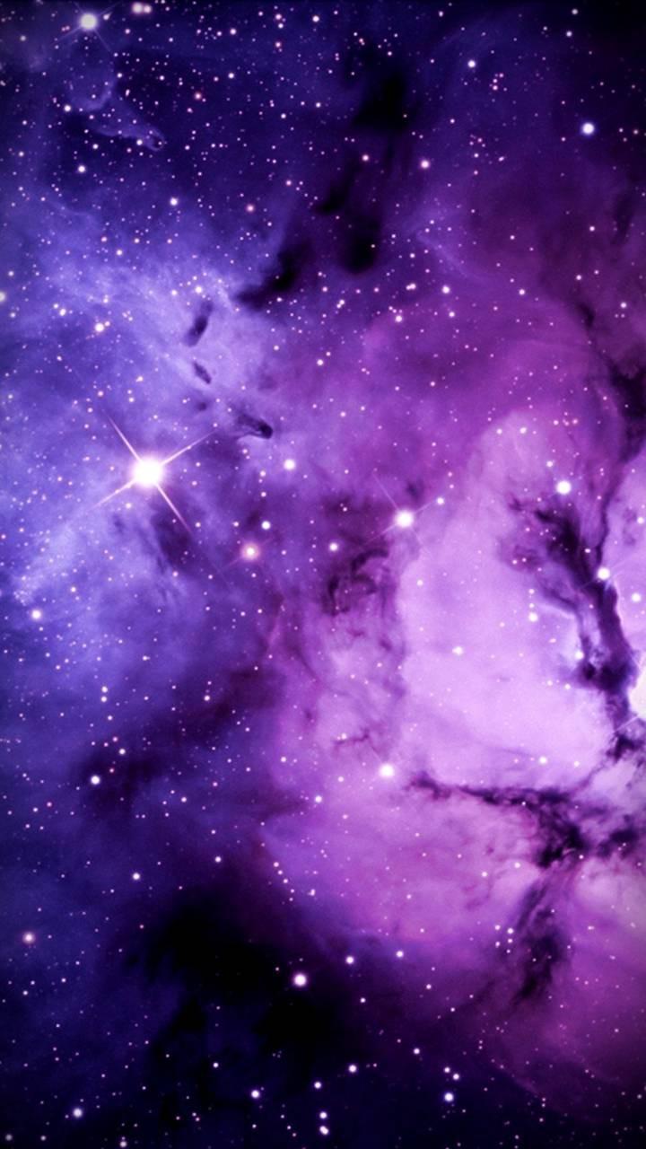 عکس زمینه ستاره های کهکشان بنفش و صورتی زیبا پس زمینه