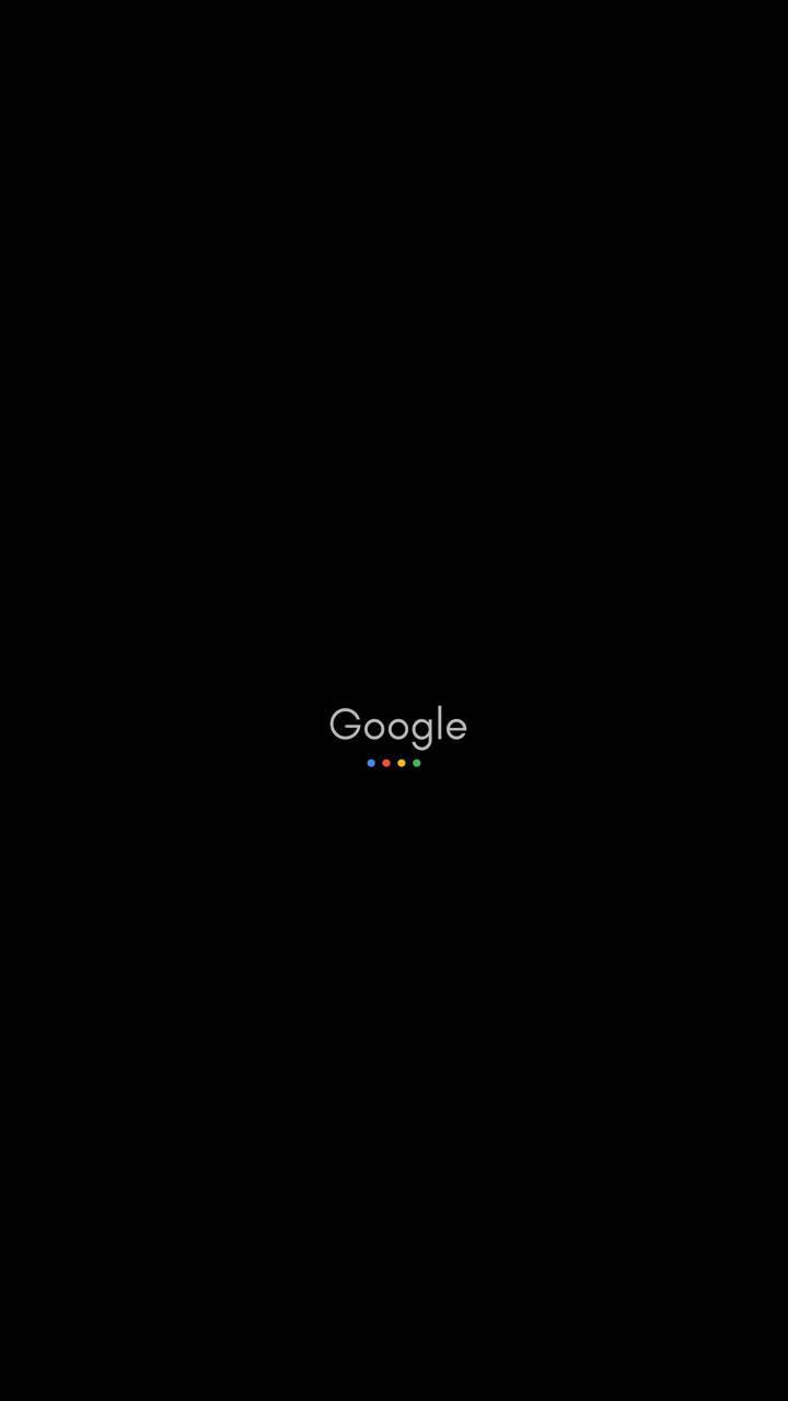 عکس زمینه مشکی لوگوی google پس زمینه
