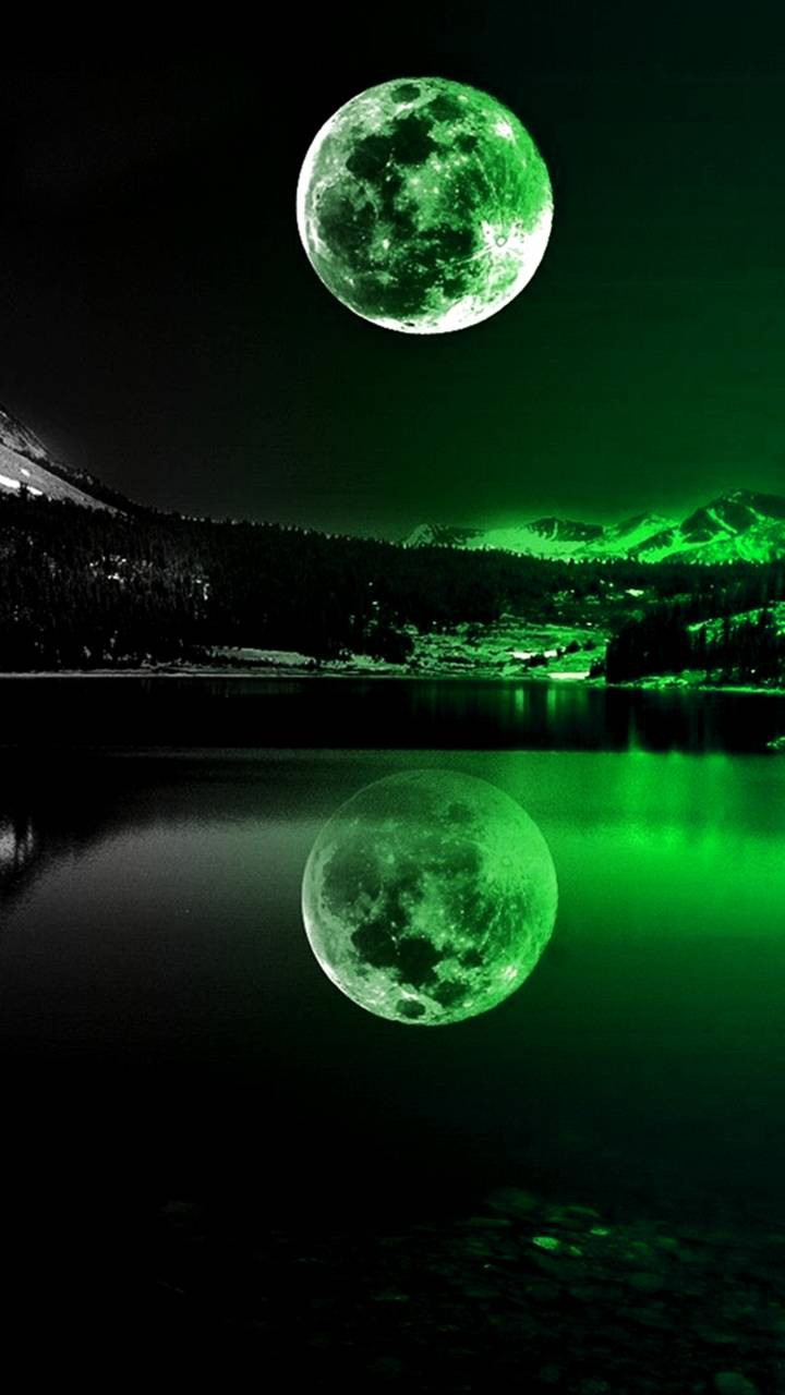 عکس زمینه مهتاب سبز پس زمینه