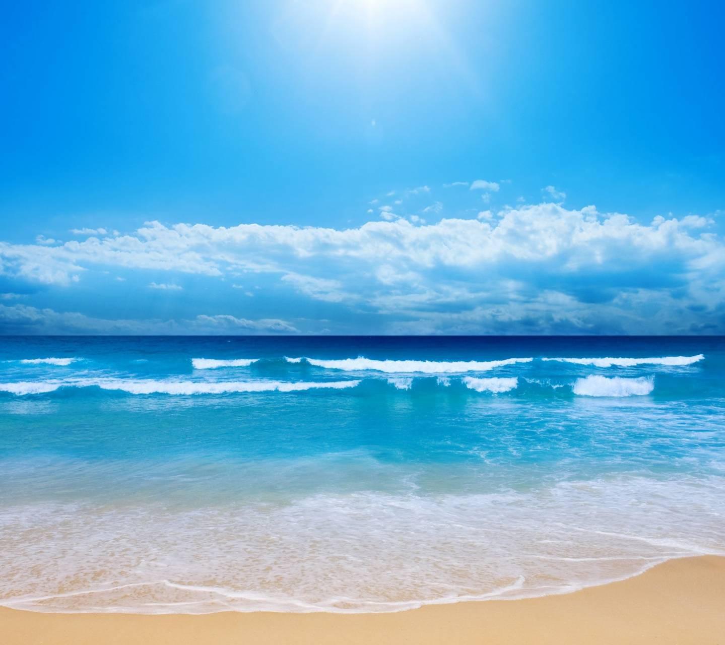 عکس زمینه طبیعت ساحل اقیانوس آفتابی پس زمینه