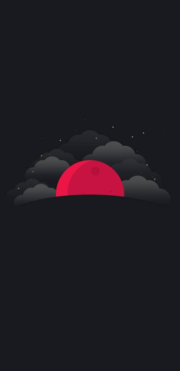 عکس زمینه ماه سرخ مینیمال پس زمینه