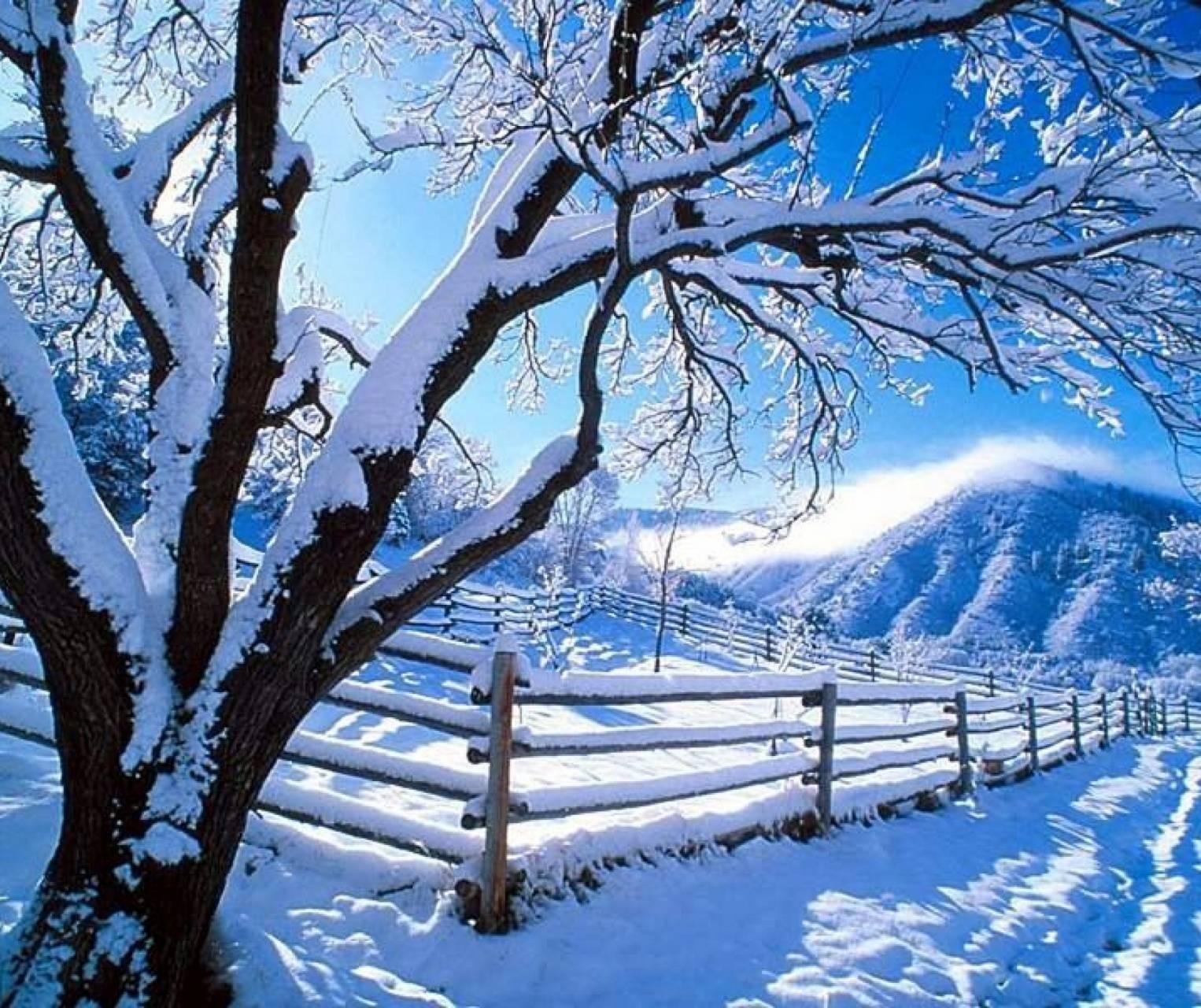 عکس زمینه روز زمستانی برفی پس زمینه
