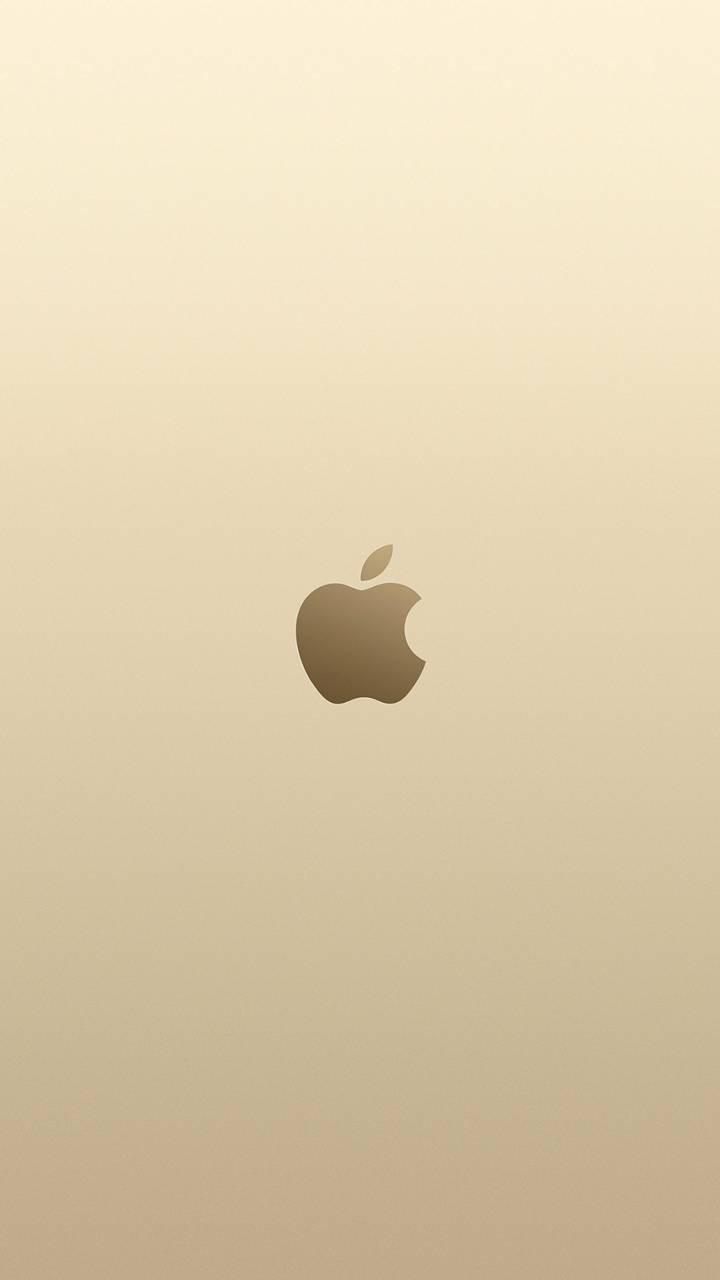 عکس زمینه اپل طلایی شیک پس زمینه