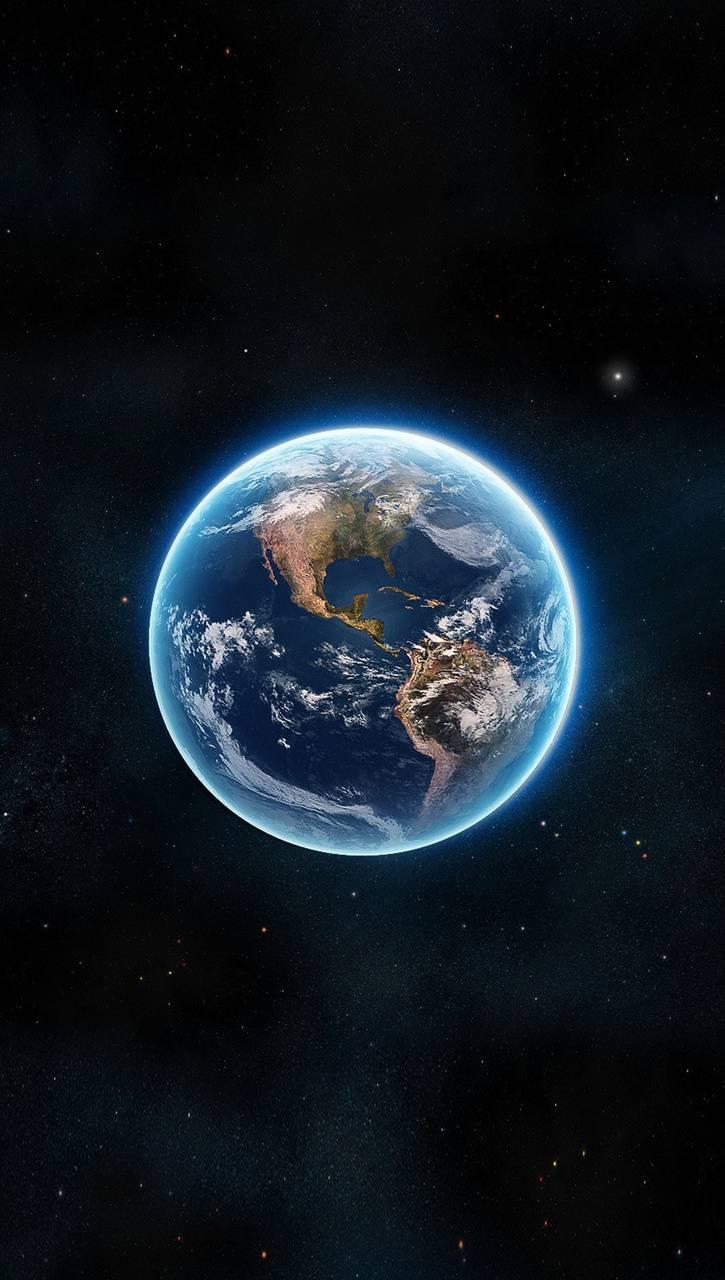 عکس زمینه کره زمین زیبا و آبی پس زمینه