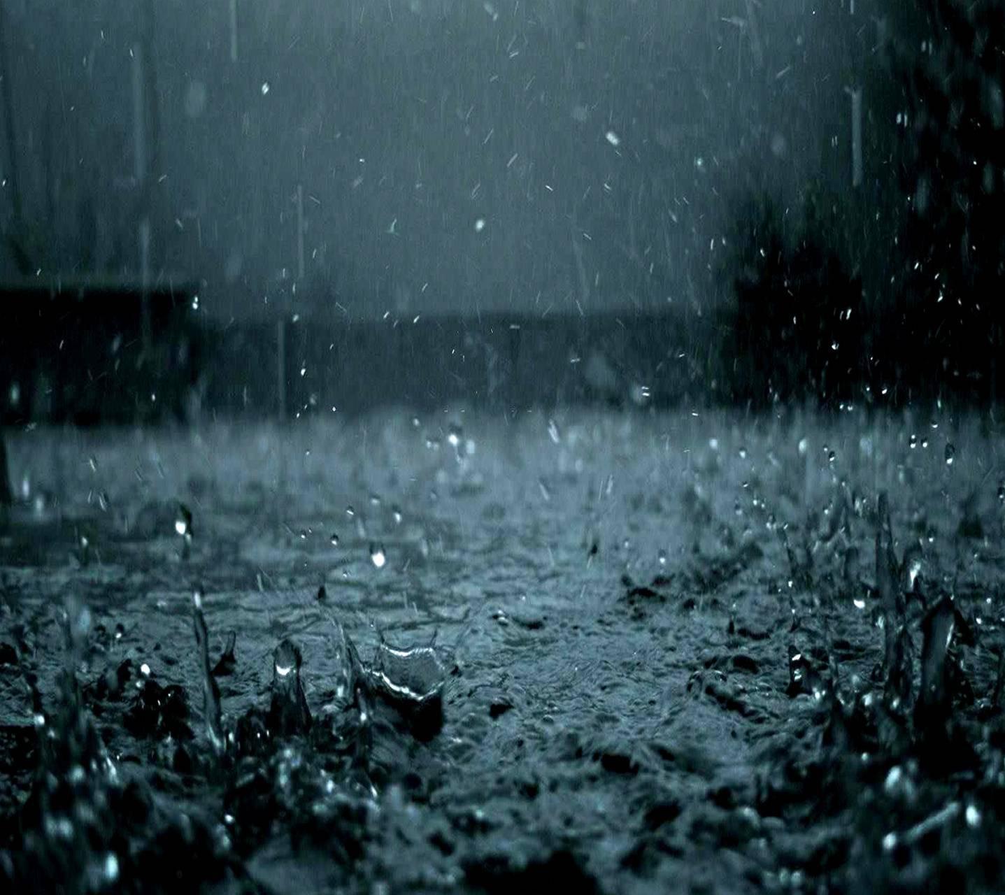 عکس زمینه قطرات باران شدید پس زمینه