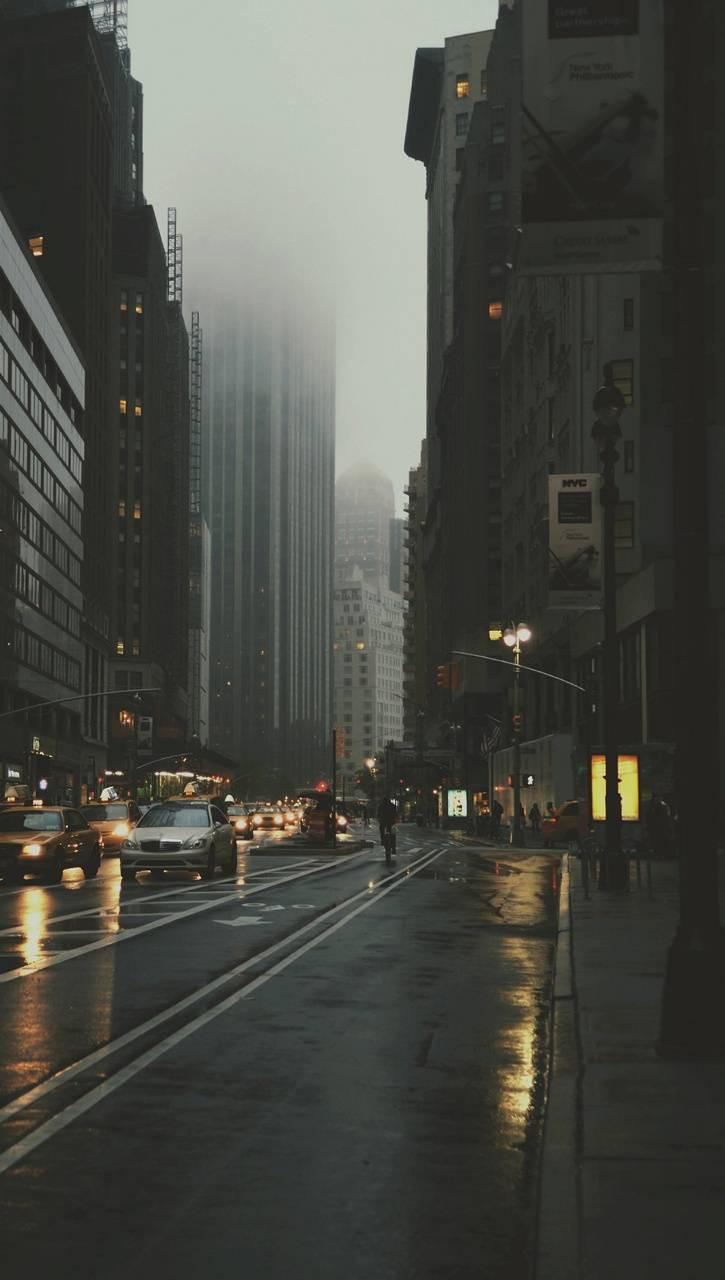عکس زمینه شهر بارانی زیبا پس زمینه