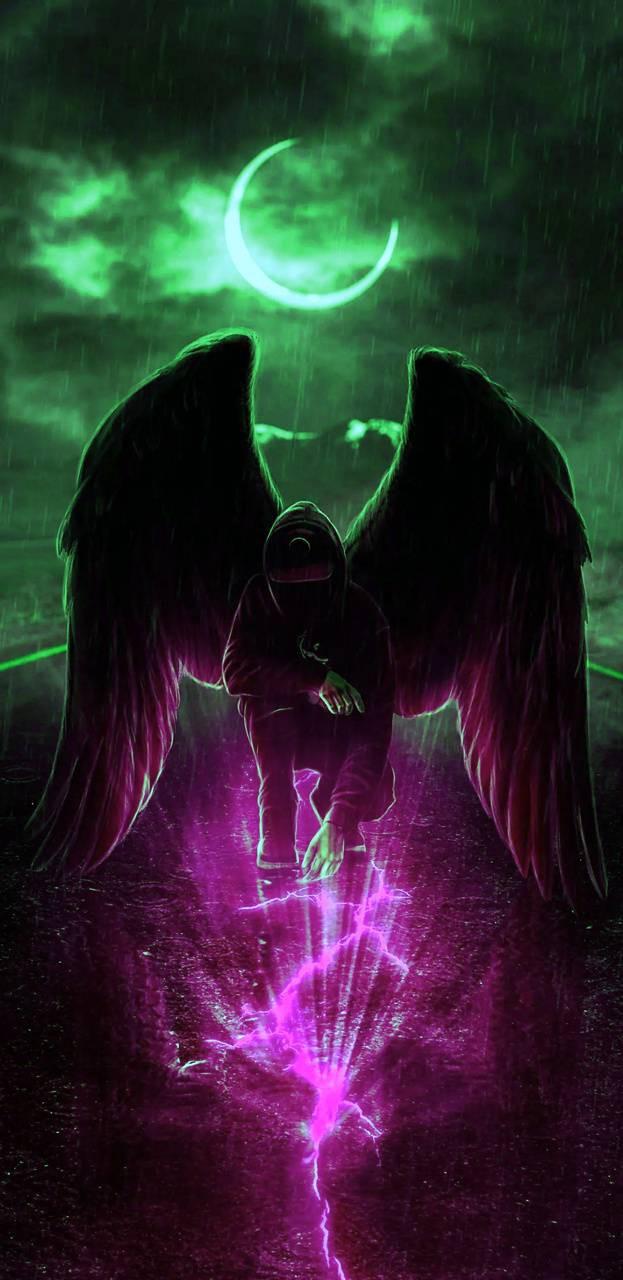 عکس زمینه فرشته تاریکی پس زمینه