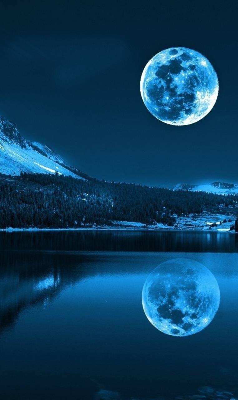 عکس زمینه ماه و مهتاب و شب پس زمینه