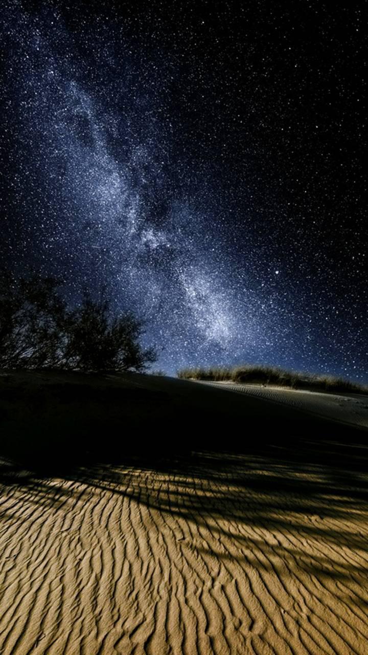 عکس زمینه شب کویر پس زمینه