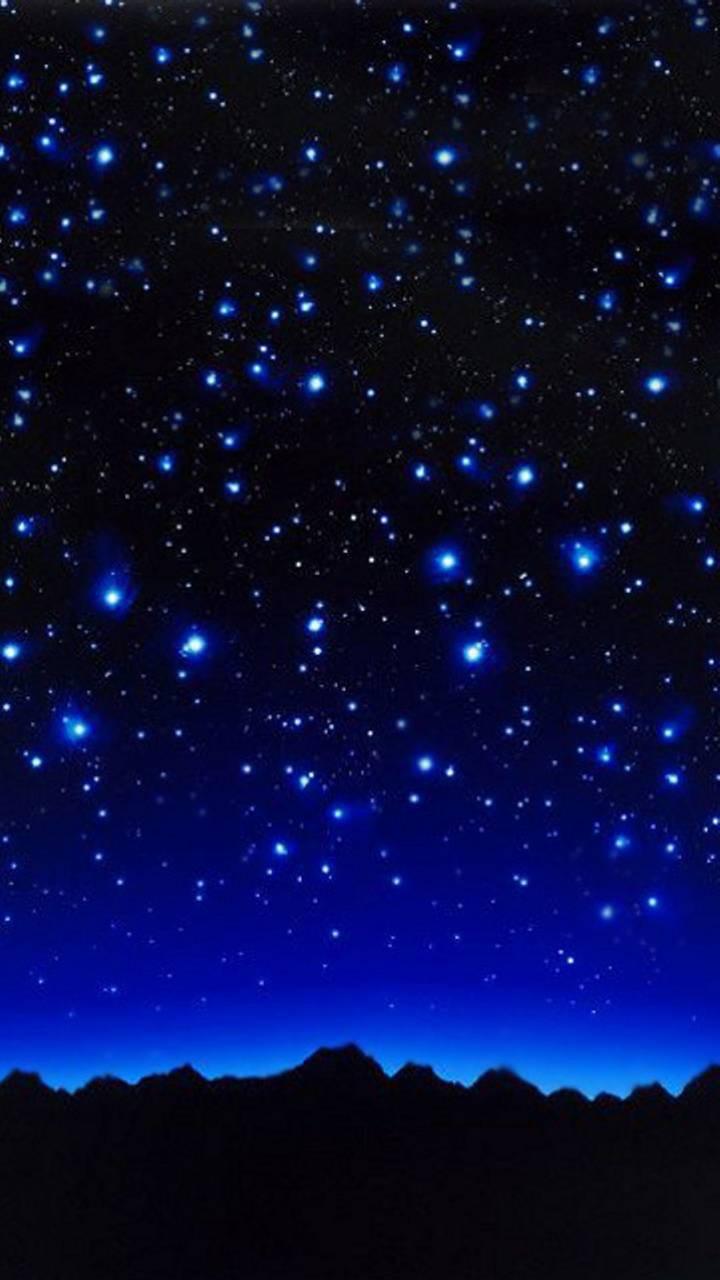 عکس زمینه شب پر ستاره زیبا پس زمینه