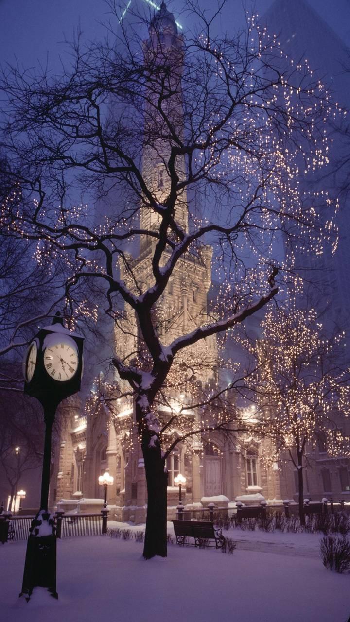 عکس زمینه شب کریسمس پس زمینه