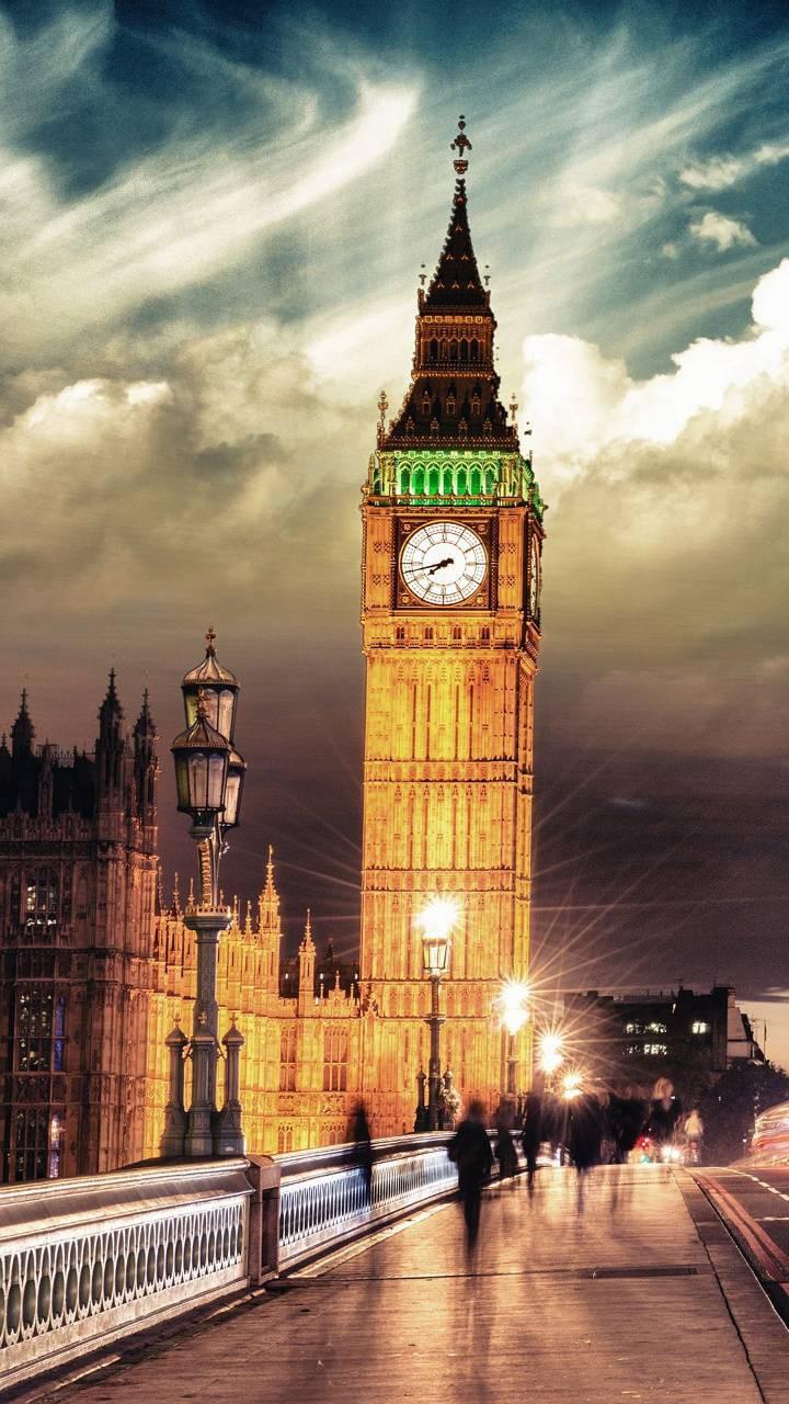 عکس زمینه ساعت بیگ بن شهر لندن پس زمینه