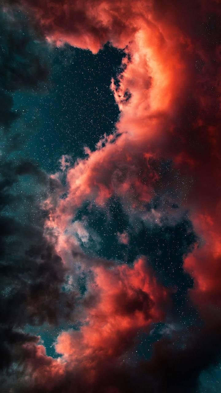 عکس زمینه HDR ابر فضایی پس زمینه