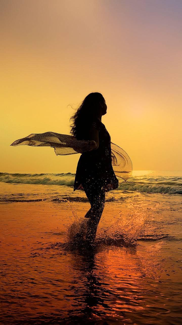 عکس زمینه دختر دریا پس زمینه