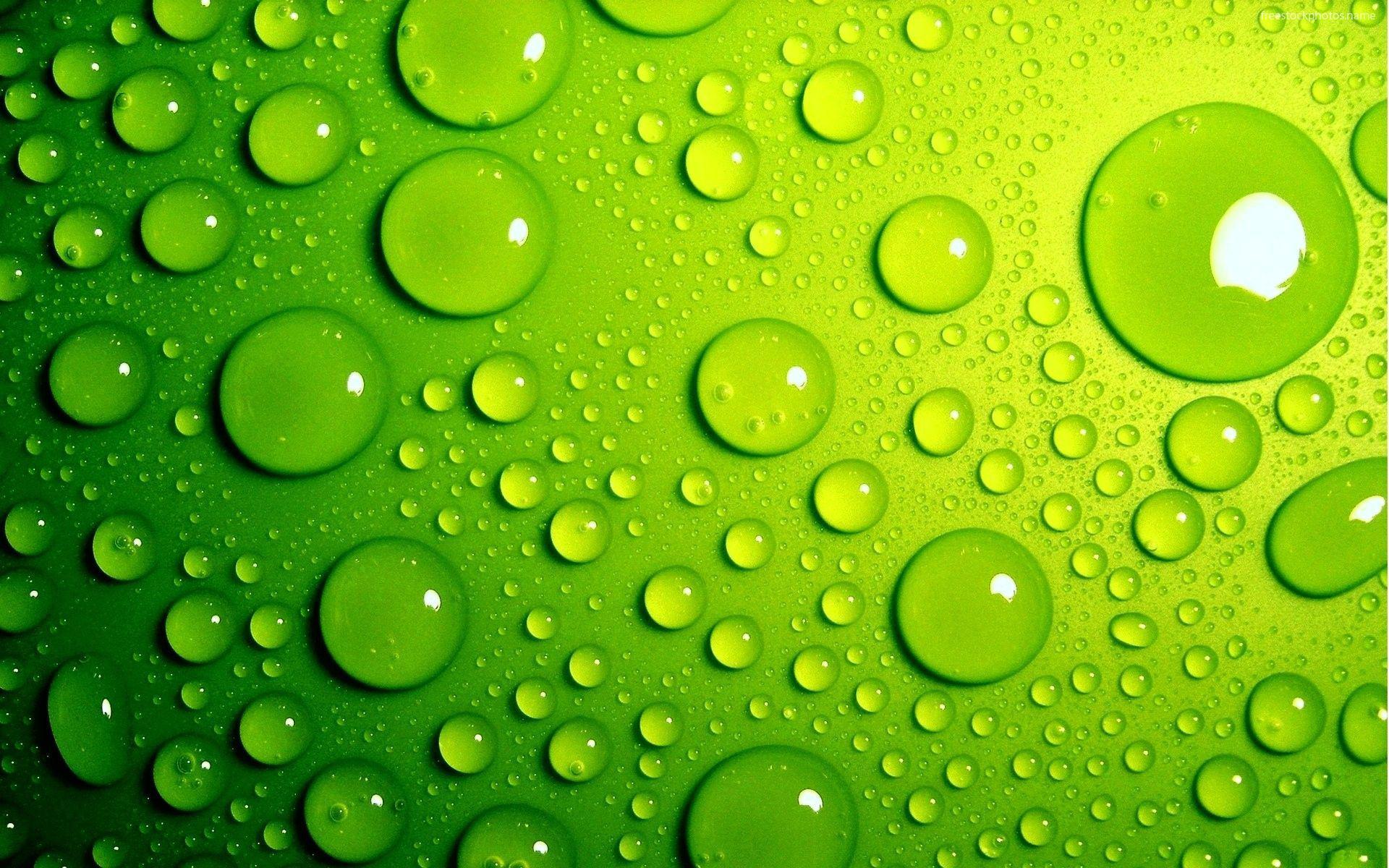 عکس زمینه قطرات آب سبز رنگ سه بعدی پس زمینه