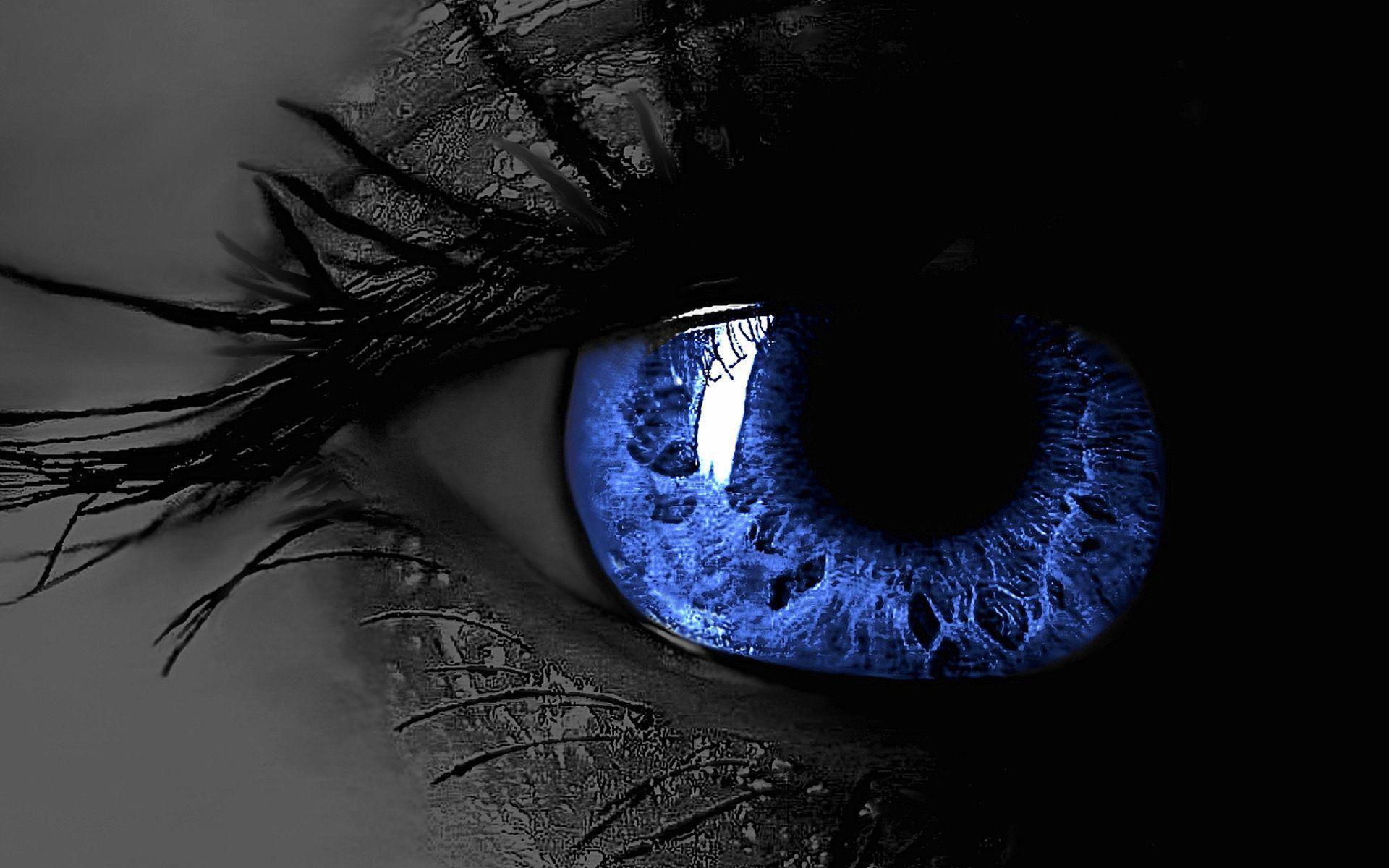 عکس زمینه چشم آبی سه بعدی ترسناک پس زمینه