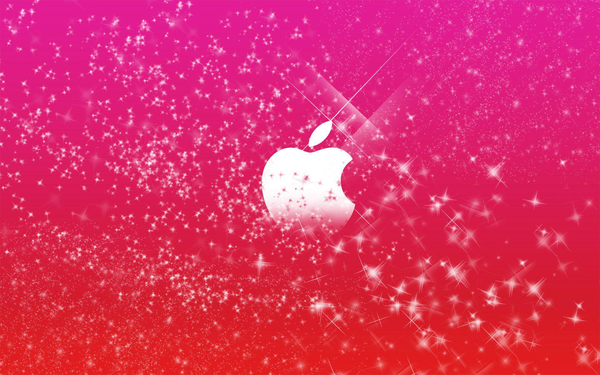 عکس زمینه اپل دخترونه قرمز صورتی پس زمینه