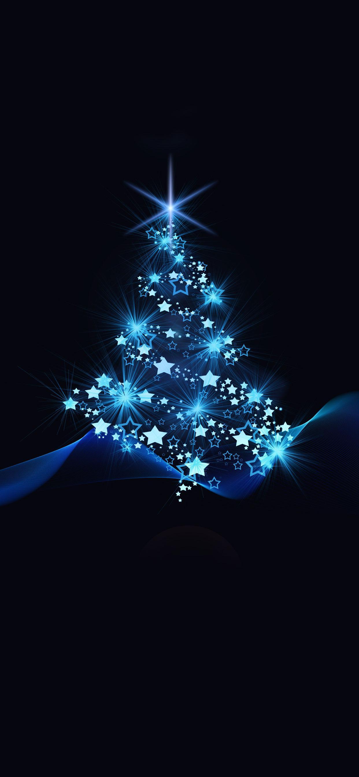 عکس زمینه درخت کریسمس آبی پس زمینه