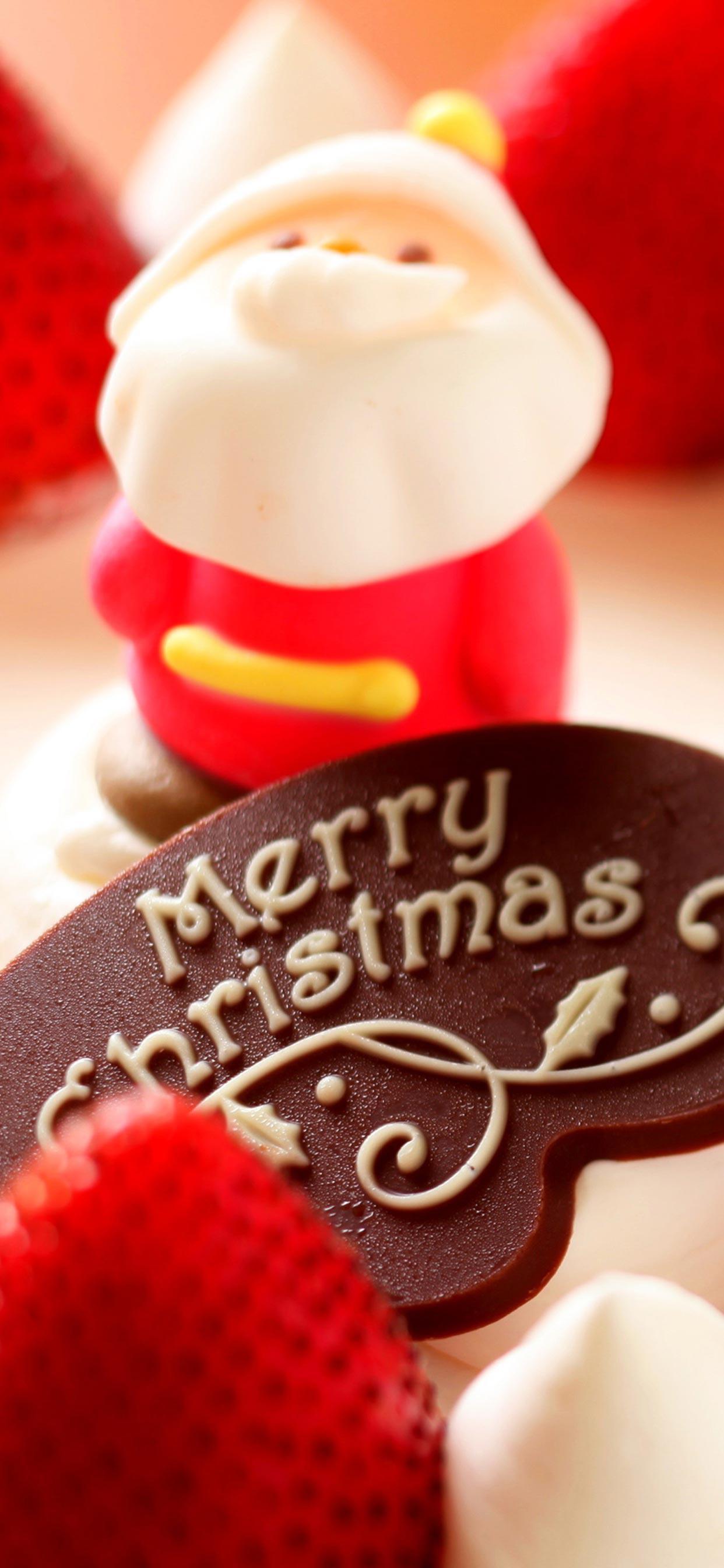 عکس زمینه تبریک کریسمس کیک و شیرینی بابانوئل پس زمینه
