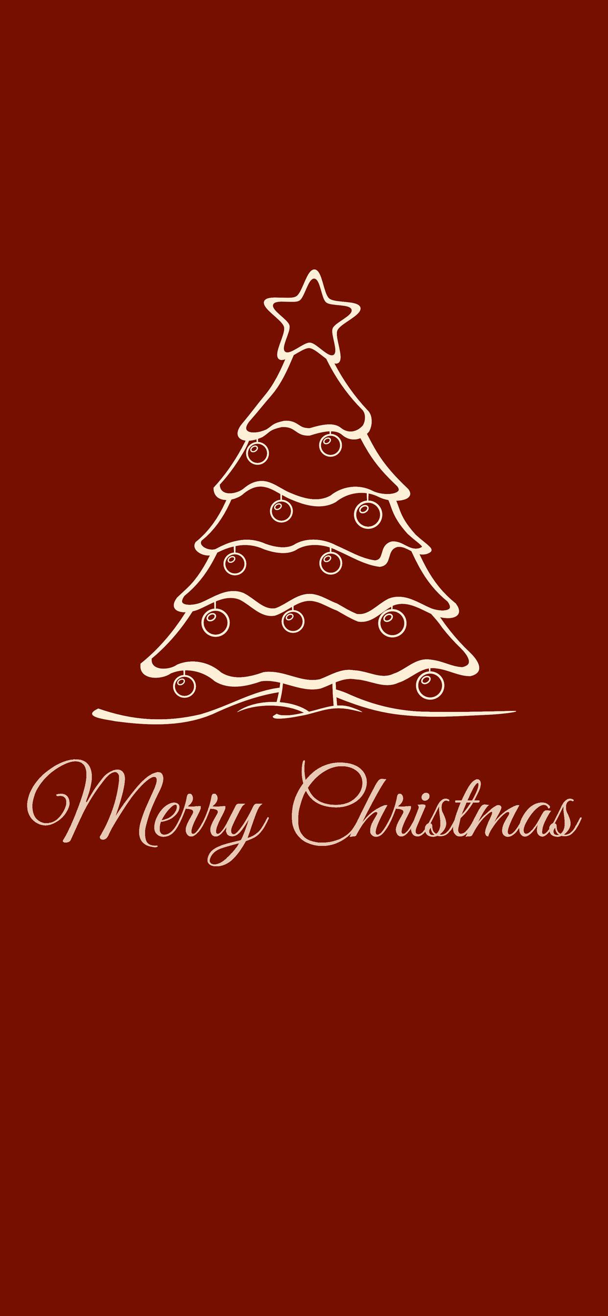 عکس زمینه درخت کریسمس قرمز پس زمینه