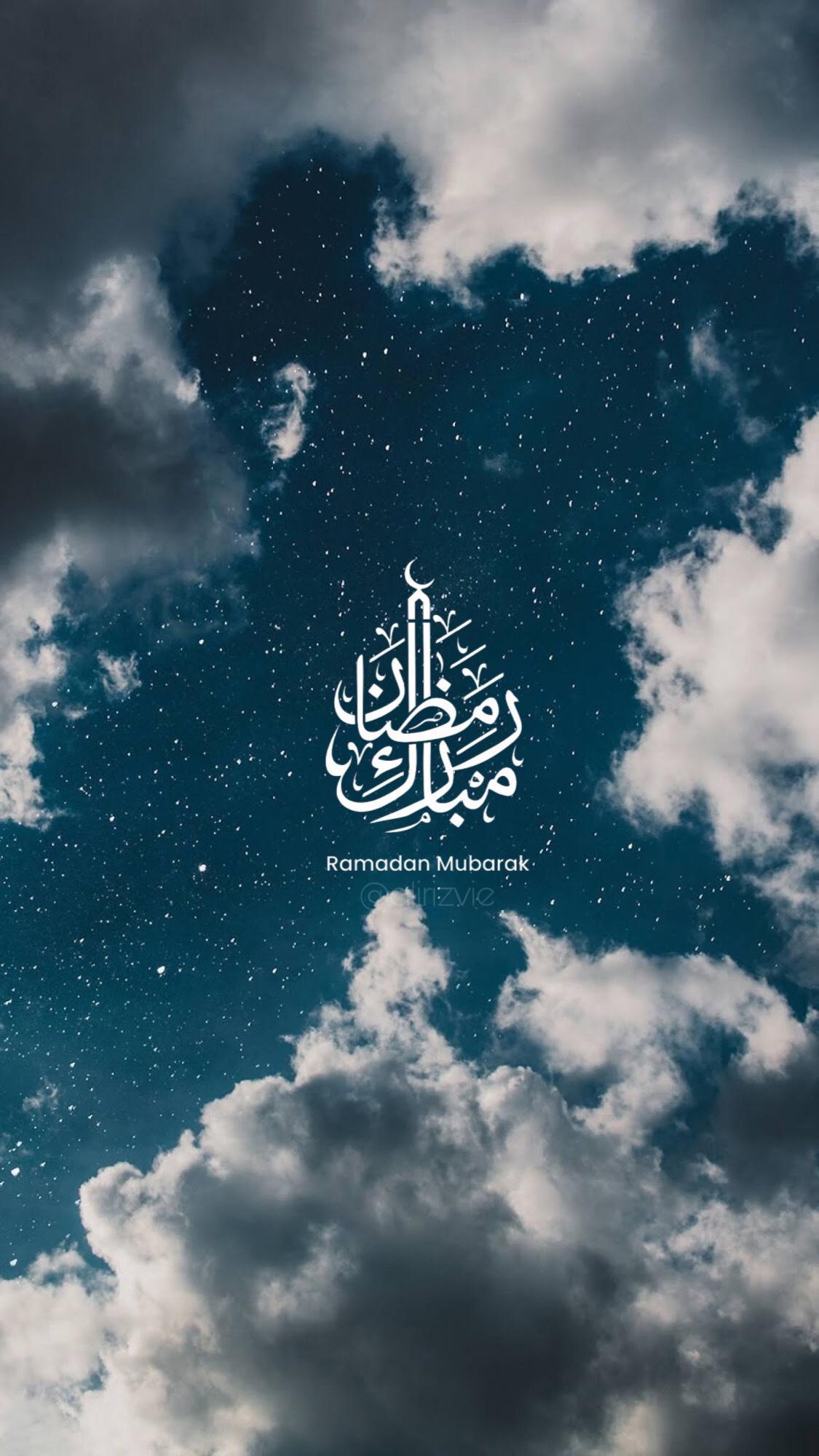 عکس زمینه ماه رمضان مبارک آسمانی پس زمینه