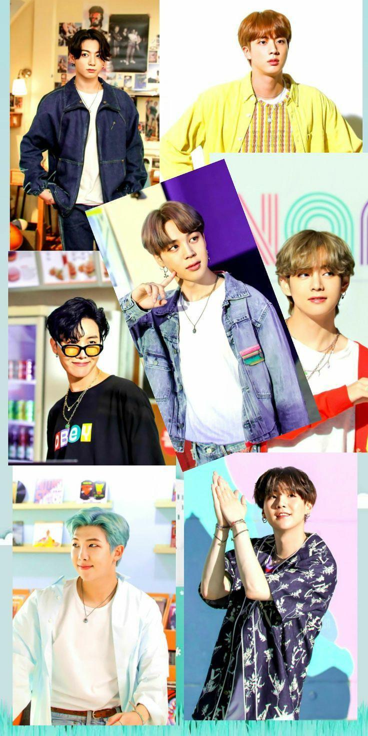 عکس زمینه اعضا گروه BTS پس زمینه