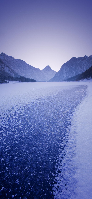 عکس زمینه اصلی شیائومی ردمی نوت 9 مسیر یخبندان پس زمینه