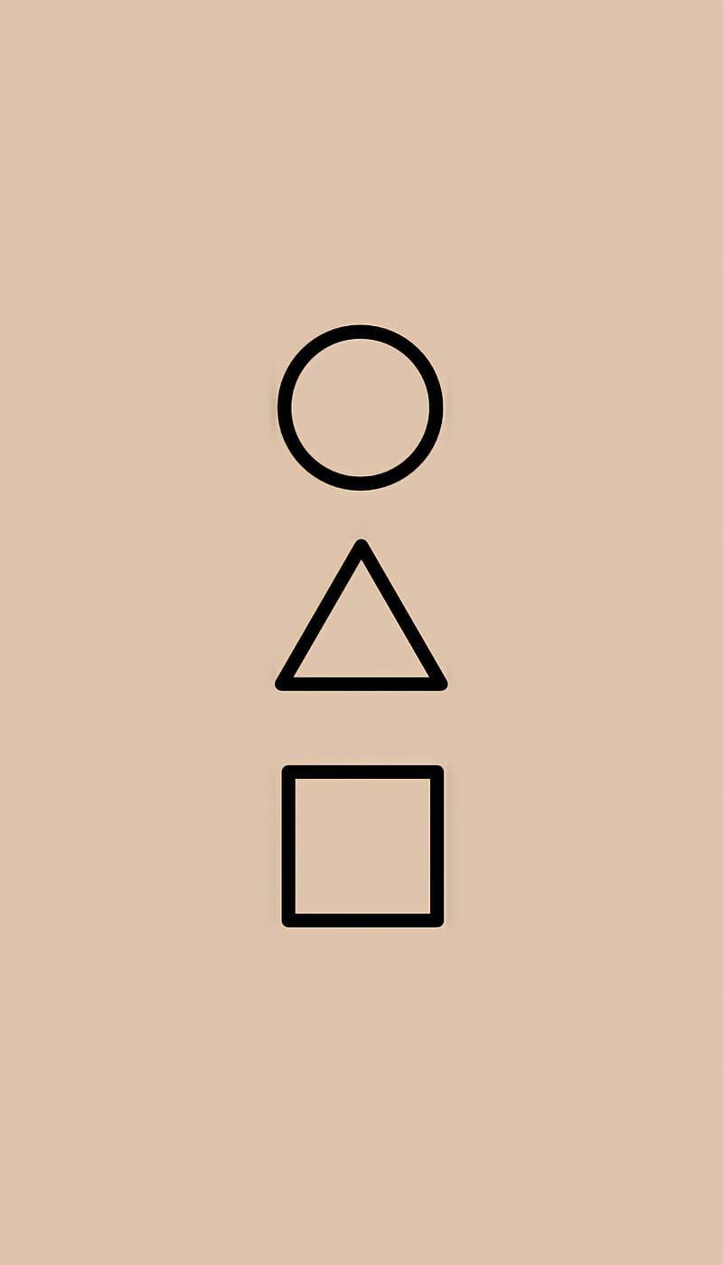 عکس زمینه علایم دایره مثلث مربع کارت سریال بازی مرکب پس زمینه