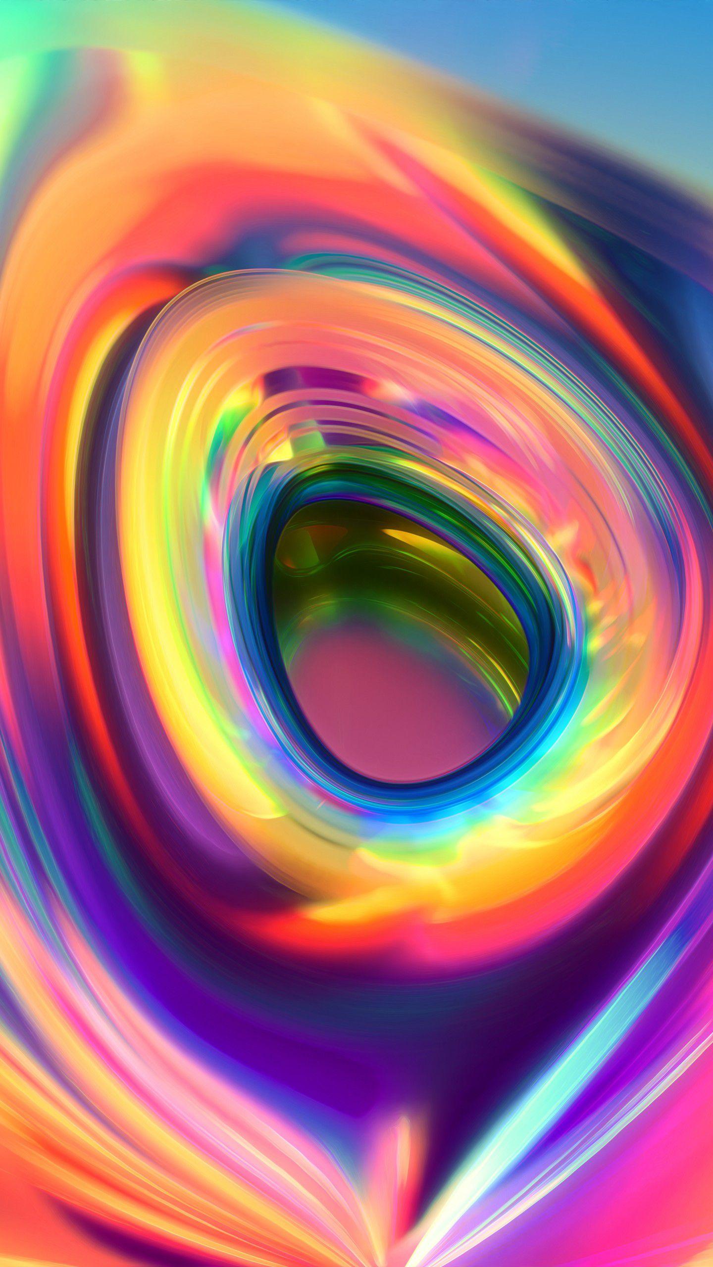 عکس زمینه حلقه چکیده رنگارنگ جالب پس زمینه