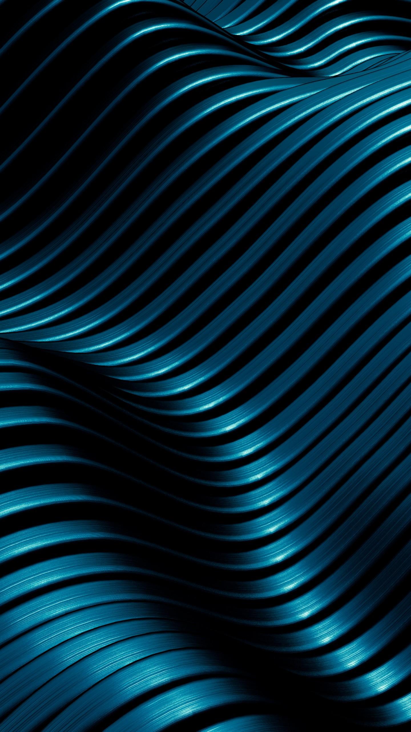عکس زمینه الگوی فلزی موج های مدرن خطوط 4K پس زمینه