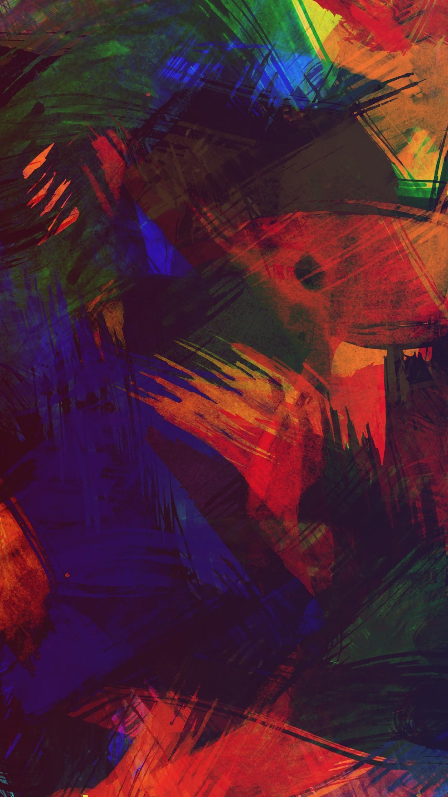 عکس زمینه بافت رنگارنگ نقاشی مدرن پس زمینه