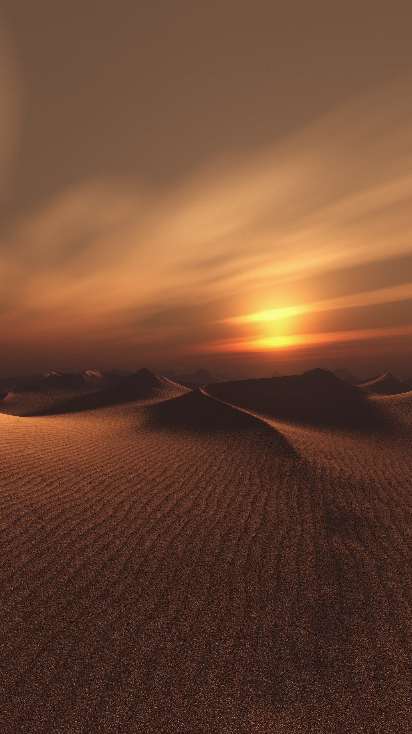 عکس زمینه غروب آفتاب در کویر گرم رویایی پس زمینه