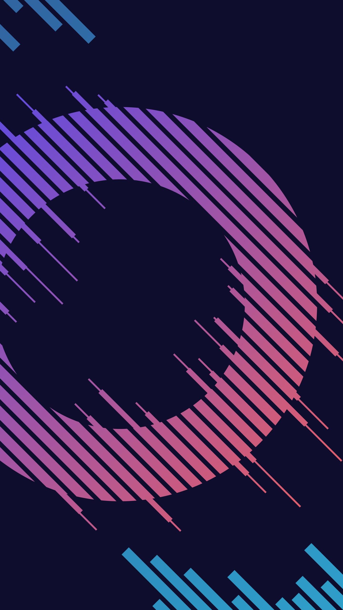 عکس زمینه حلقه های رنگی نئون با صفحه سیاه پس زمینه