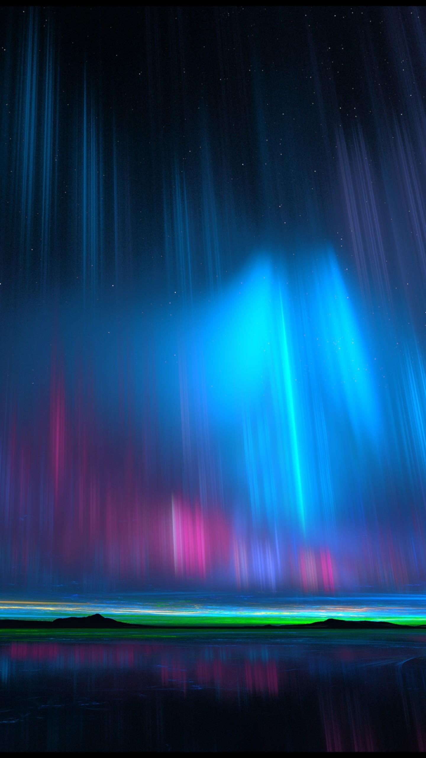 عکس زمینه نورهای شفق شمالی گرافیک خلاق پس زمینه