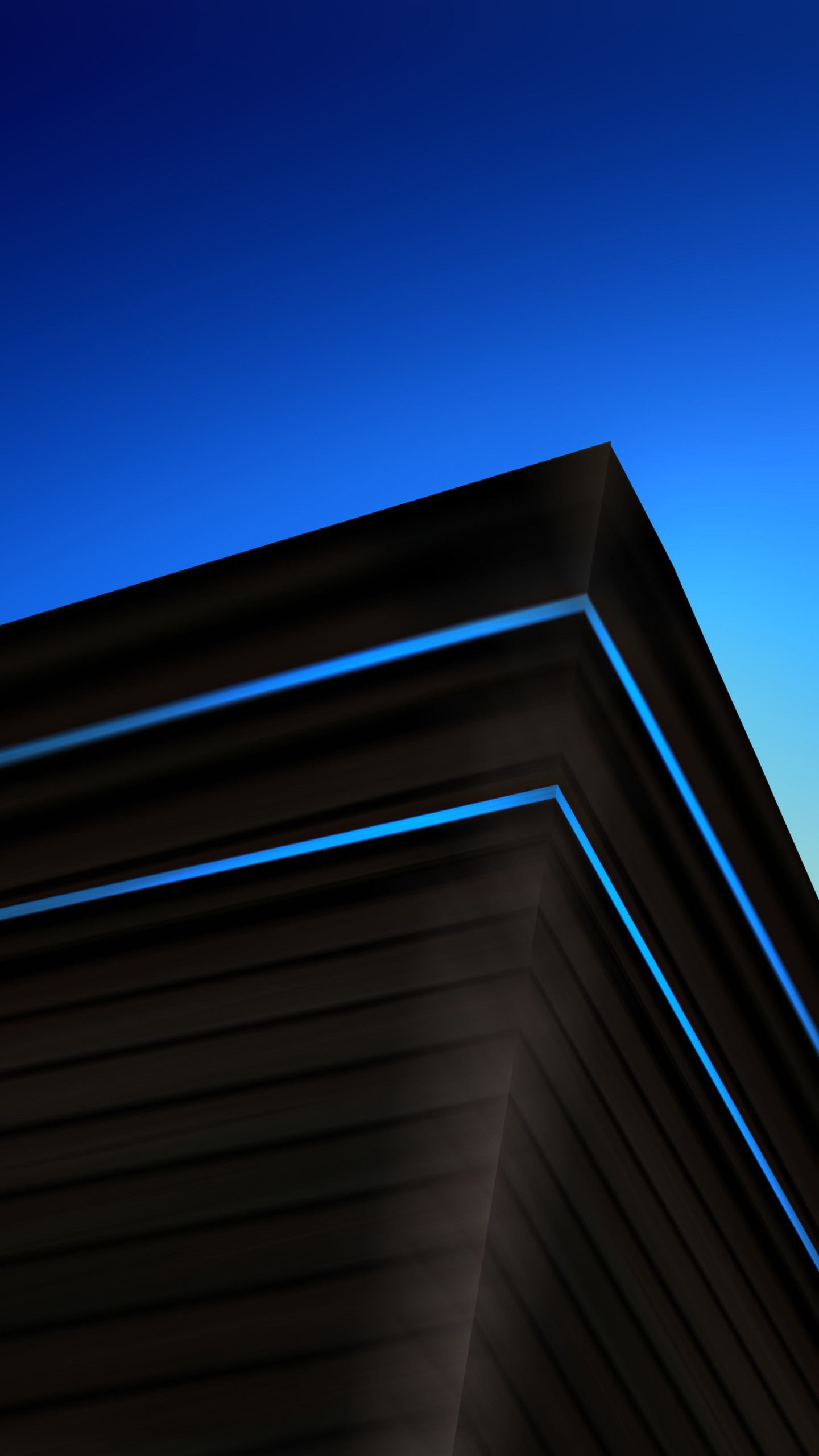 عکس زمینه گرافیک خلاق معماری مدرن آبی و مشکی پس زمینه