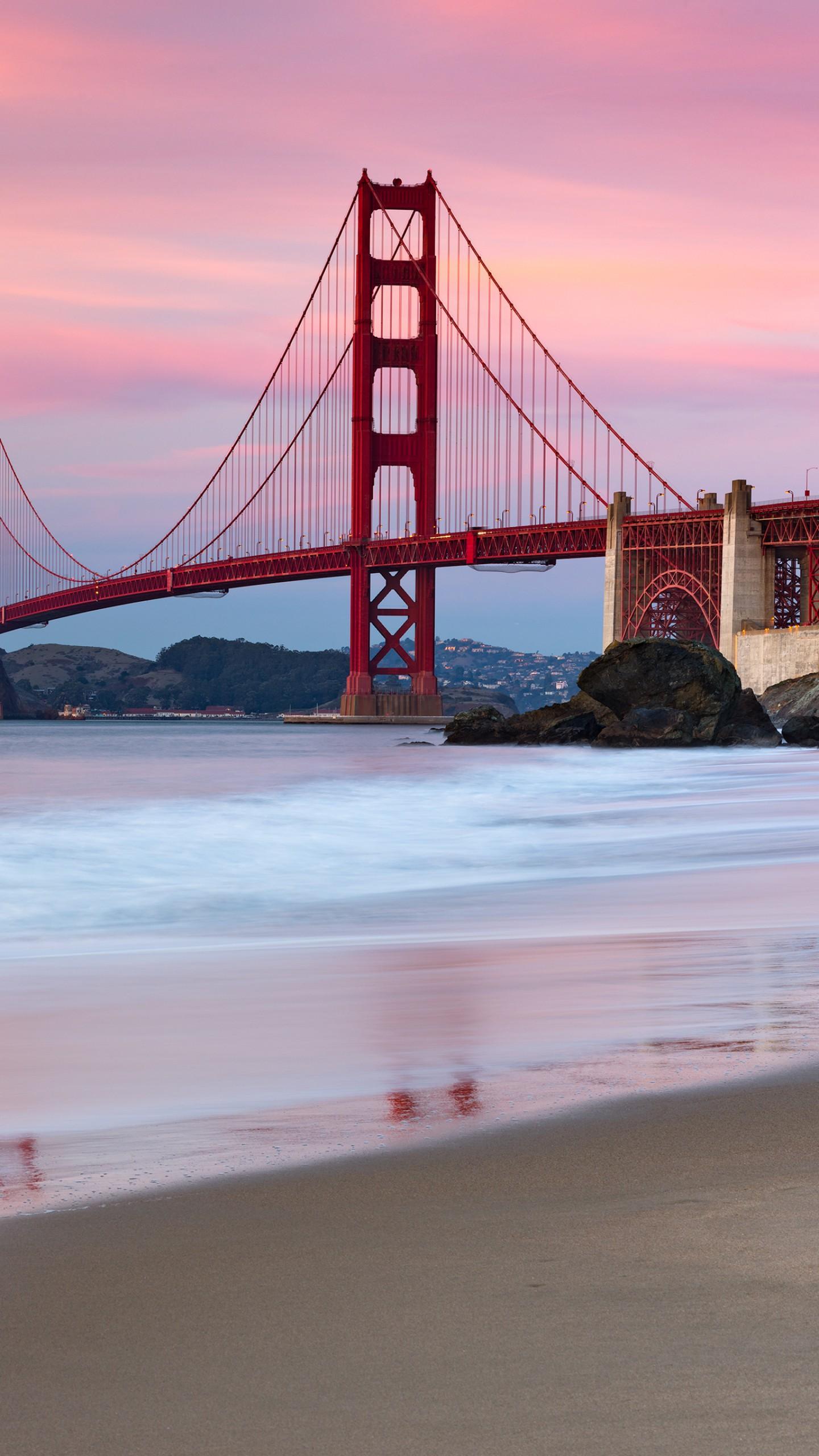 عکس زمینه پل گلدن گیت سانفرانسیسکو آمریکا پس زمینه
