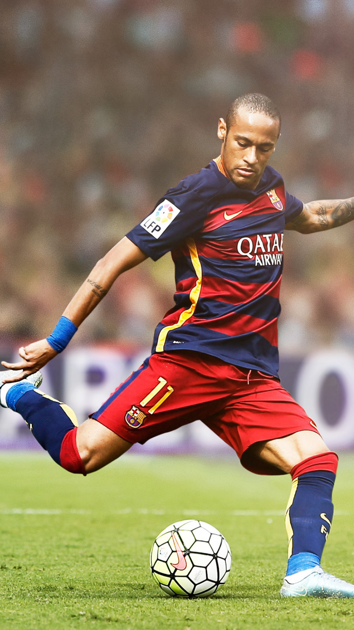 عکس زمینه نیمار با لباس تیم بارسلونا پس زمینه