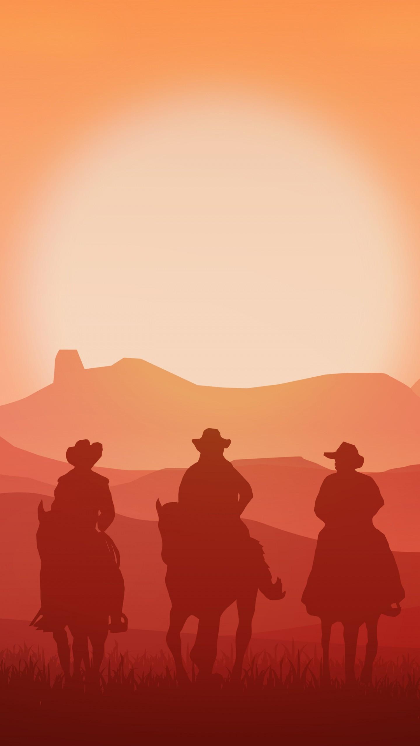 عکس زمینه گاوچران ها سوار بر اسب های وحشی پس زمینه