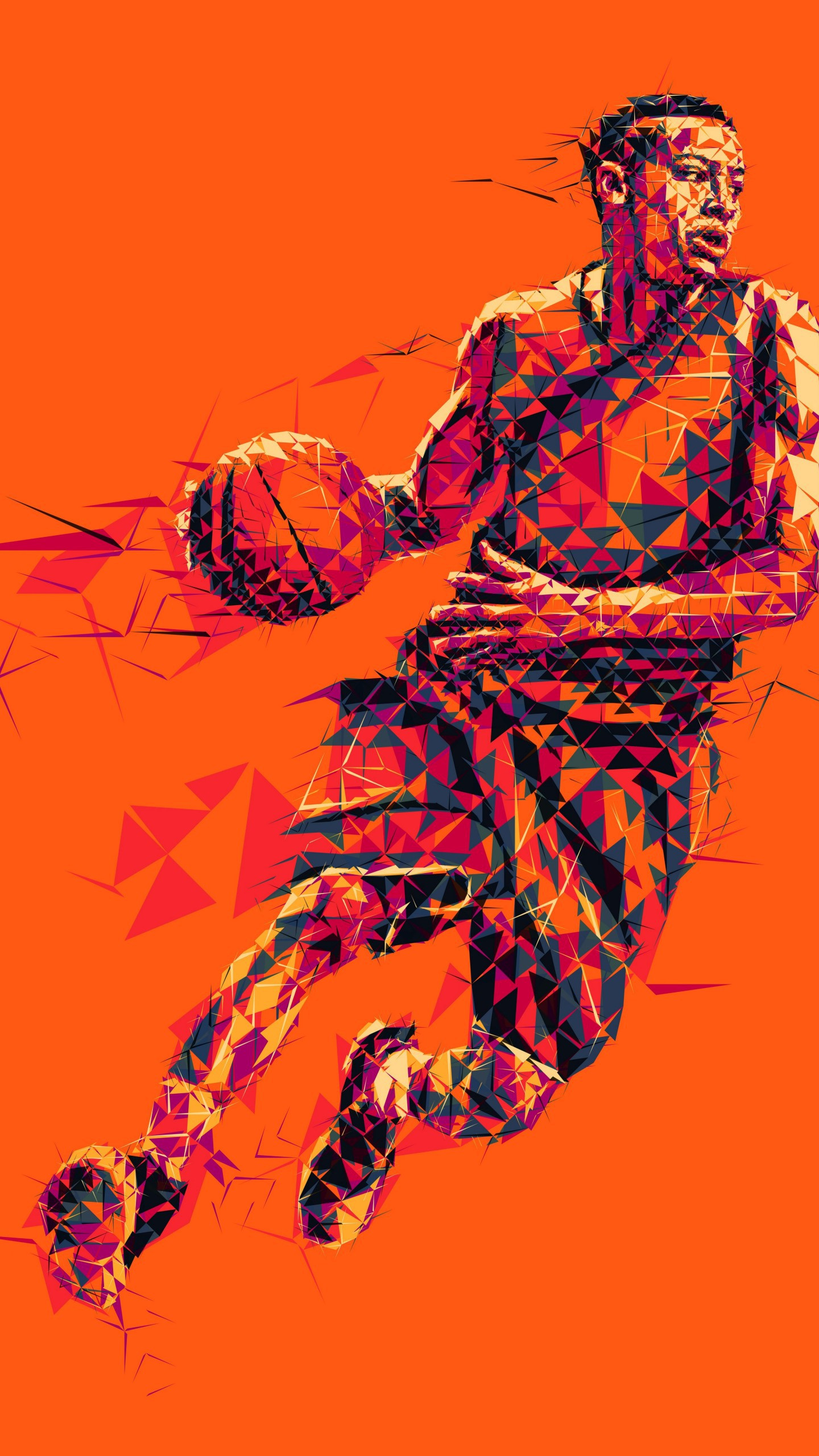 عکس زمینه عکس موزاییکی بازیکن بسکتبال پس زمینه