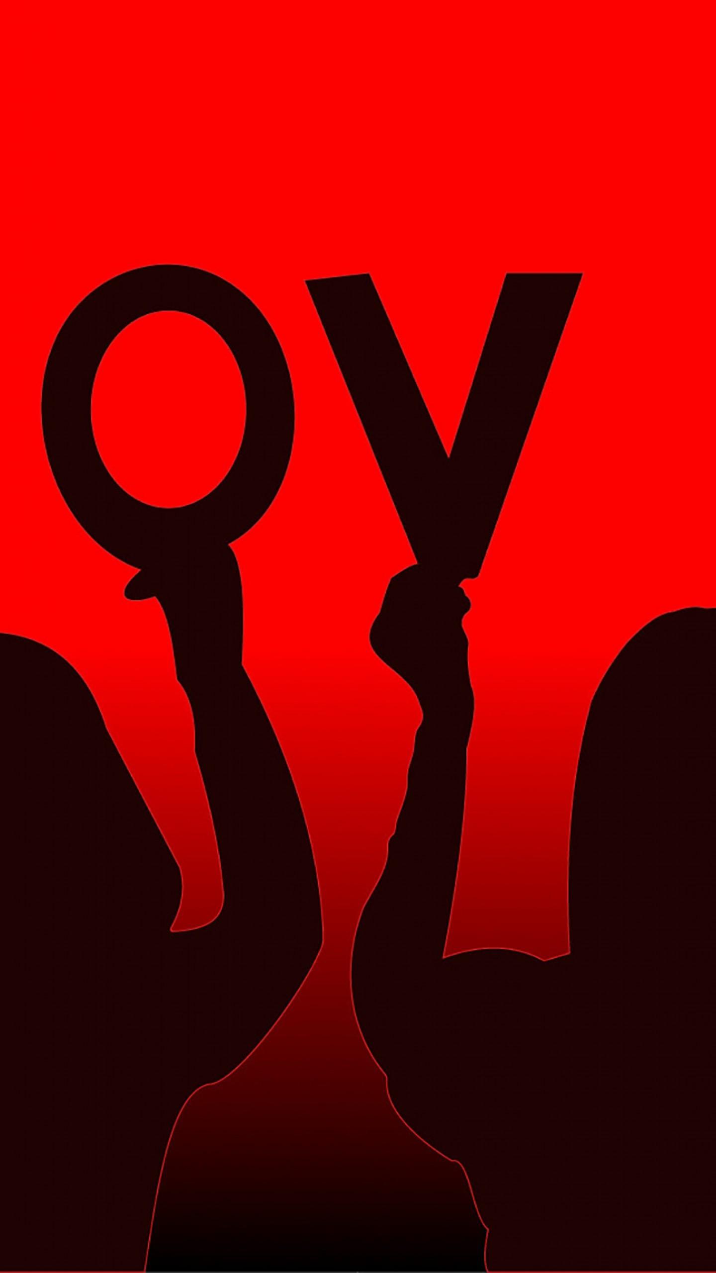 عکس زمینه پسر و دختر با حروف Love قرمز و مشکی پس زمینه